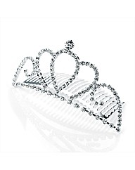 Silver Coloured Glass Stone Hair Comb
