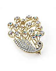Gold Coloured Swan Shaped Brooch