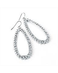 Silver Coloured Oval Earrings