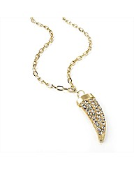 Gold Coloured Tooth Shaped Necklace