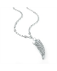 Silver Coloured Tooth Shaped Necklace