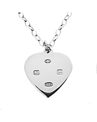 Ladies Hallmarked Silver Heart Pendant