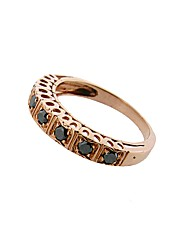 9ct Rose Gold Black Diamond Ring