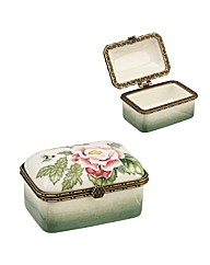 """English Garden"" 2"" Oblong Trinket Box"