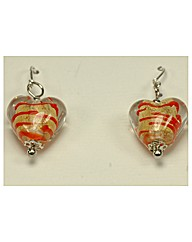Sterling Silver Murano Glass Earrings