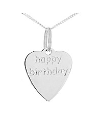 Silver Happy Birthday Pendant