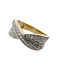9ct YG 1ct Diamond Ring