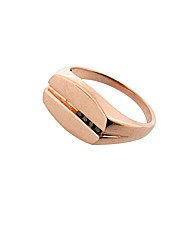 Gents 9ct Rose Gold Diamond Ring