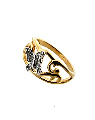 GPS Diamond Butterfly Ring