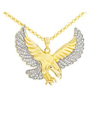 Gold Plated CZ set Eagle Pendant