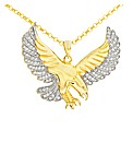 Gold Plated Cubic Zirconia Eagle Pendant