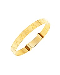 Rolled Gold Teddy Expander Bangle
