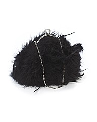 Lili Bou Feather Evening Bag
