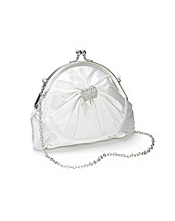 Lili Bou Satin Diamante Brooch Bow Bag