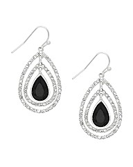 Jon Richard Jet Crystal Teardrop Earring