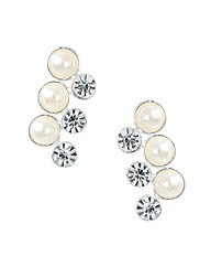 Jon Richard Triple Crystal Pearl Earring