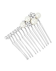 Jon Richard Crystal Pearl Hair Comb