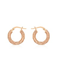 9ct Rose Gold Creole Earrings