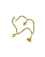 9ct Gold Animal Charm Bracelet