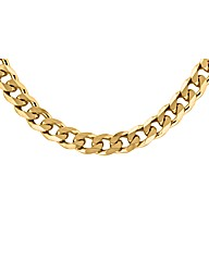 Sterling Silver Gold Plated Curb Chain