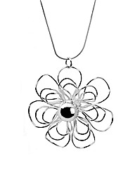 Sterling Silver Open Flower Necklace