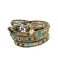 Five Wrap Olive Bracelet