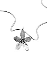 Sterling Silver Cup Flower Necklace
