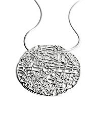 Sterling Silver Cob Web Disk Necklace