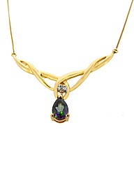 9ct Yellow Gold Mystic Topaz Necklace