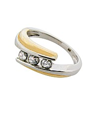 9ct Two Tone 0.25ct Trilogy Ring