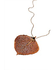 Large Iridescent Aspen Leaf Necklace