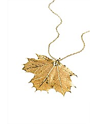 Jumbo Gold Maple Leaf Necklace