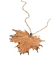 Jumbo Rose Gold Maple Leaf Necklace