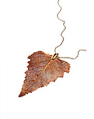 Jumbo Iridescent Birch Leaf Necklace