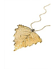 Jumbo Gold Birch Leaf Necklace