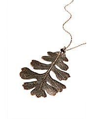 Jumbo Copper Lacey Oak Leaf Necklace