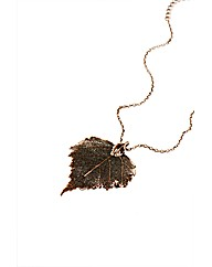 Large Vintage Copper Birch Leaf Necklace