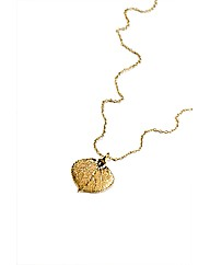 Small Gold Aspen Leaf Necklace