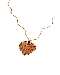 Small Rose Gold Aspen Leaf Necklace