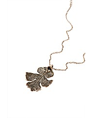 Medium Copper Lacey Oak Leaf Necklace