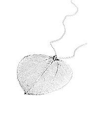 Jumbo Silver Aspen Leaf Necklace