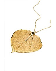 Jumbo Gold Aspen Leaf Necklace