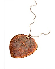 Jumbo Iridescent Aspen Leaf Necklace