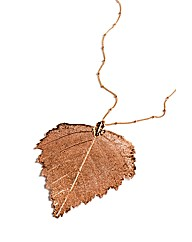 Jumbo Rose Gold Birch Leaf Necklace
