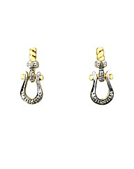 9ct Yellow Gold Diamond Buckle Earrings