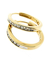 9ct YG 0.25ct Diamond Hoop Earrings
