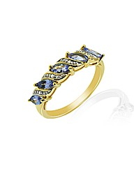 9ct Tanzanite and Diamond Ring