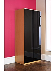 Faro 2 Door Wardrobe / Oak-Black