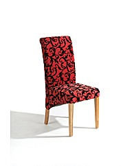 Abbey Chair (Single)Black-Deep Red