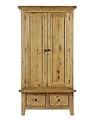 Tuscany 2 Door 2 Drawer Wardrobe